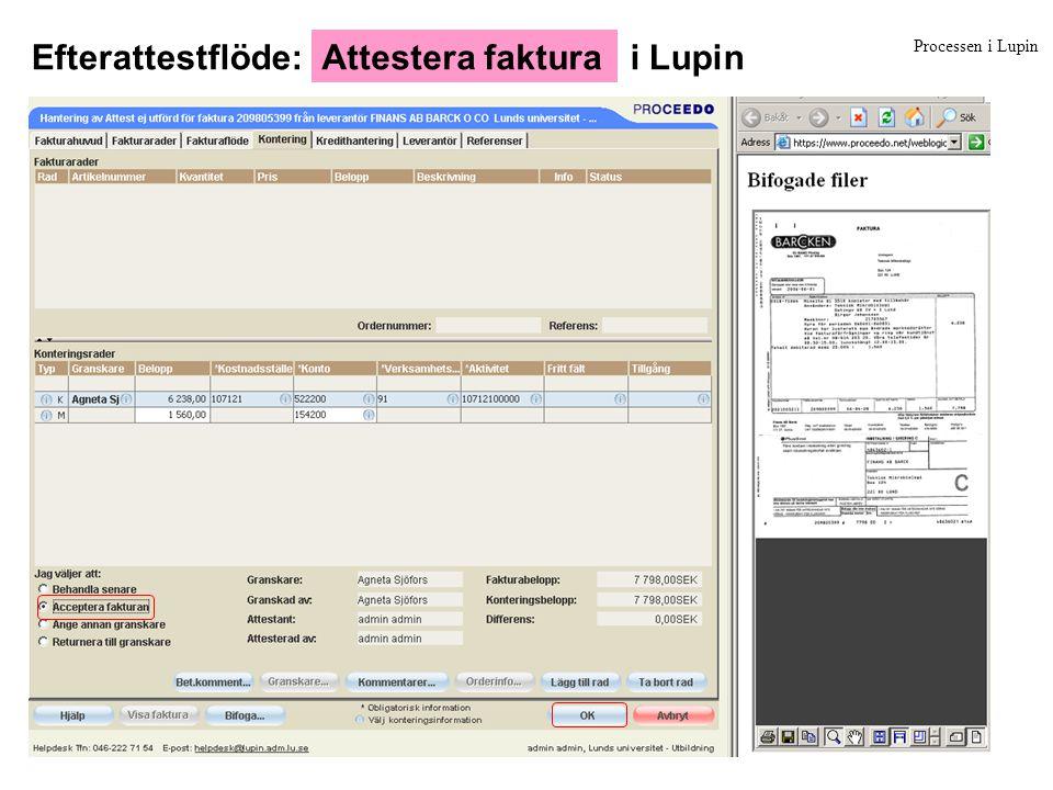 Efterattestflöde: i Lupin Attestera faktura