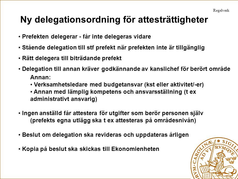Ny delegationsordning för attesträttigheter