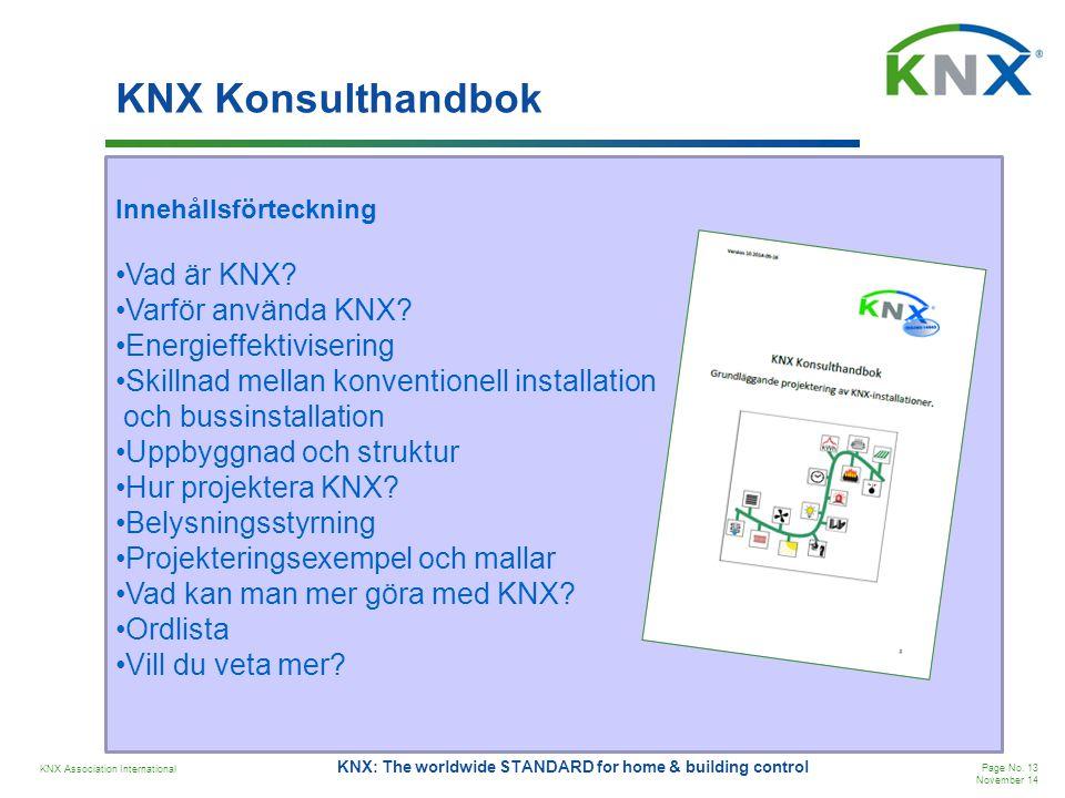 KNX Konsulthandbok Vad är KNX Varför använda KNX