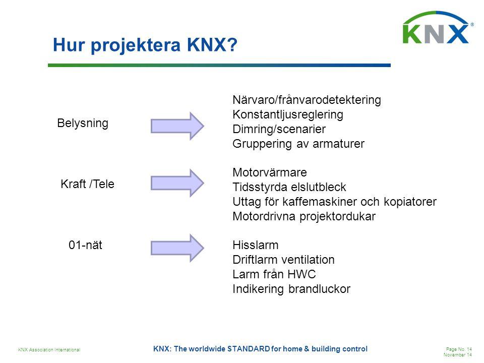 Hur projektera KNX Närvaro/frånvarodetektering Konstantljusreglering