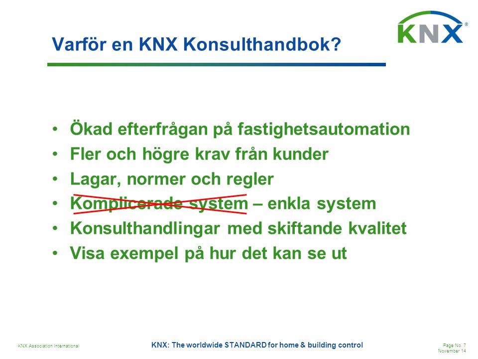 Varför en KNX Konsulthandbok