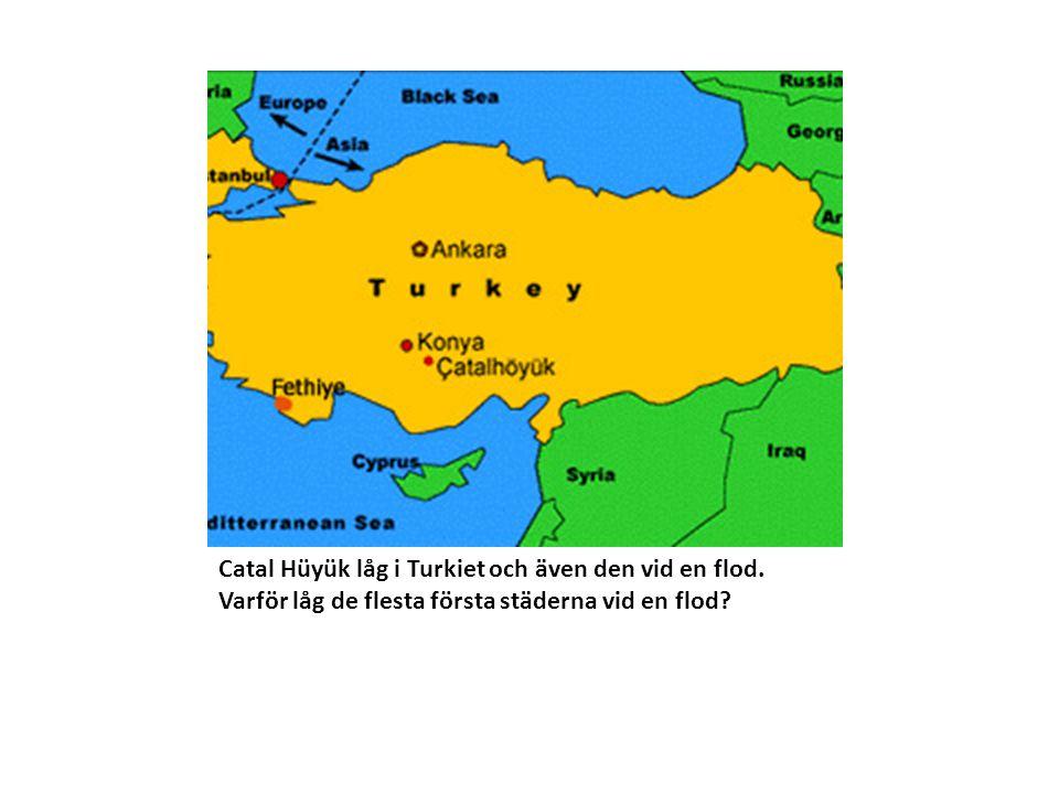Catal Hüyük låg i Turkiet och även den vid en flod