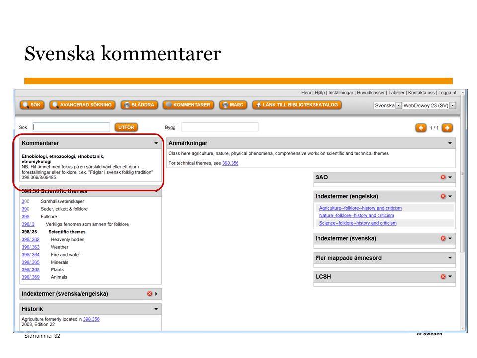 Svenska kommentarer 2014-09-25