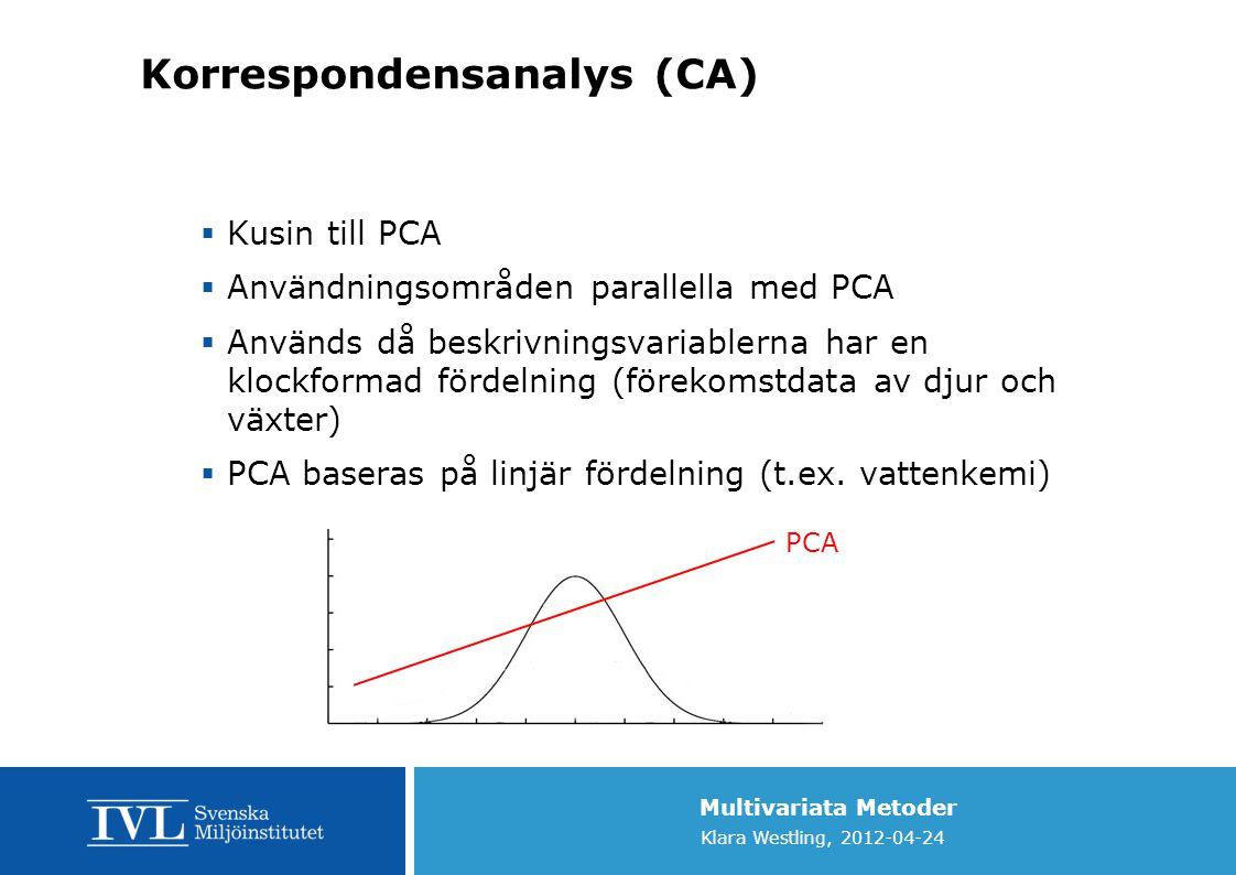 Korrespondensanalys (CA)