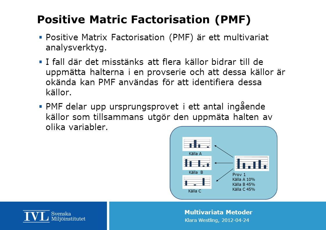 Positive Matric Factorisation (PMF)