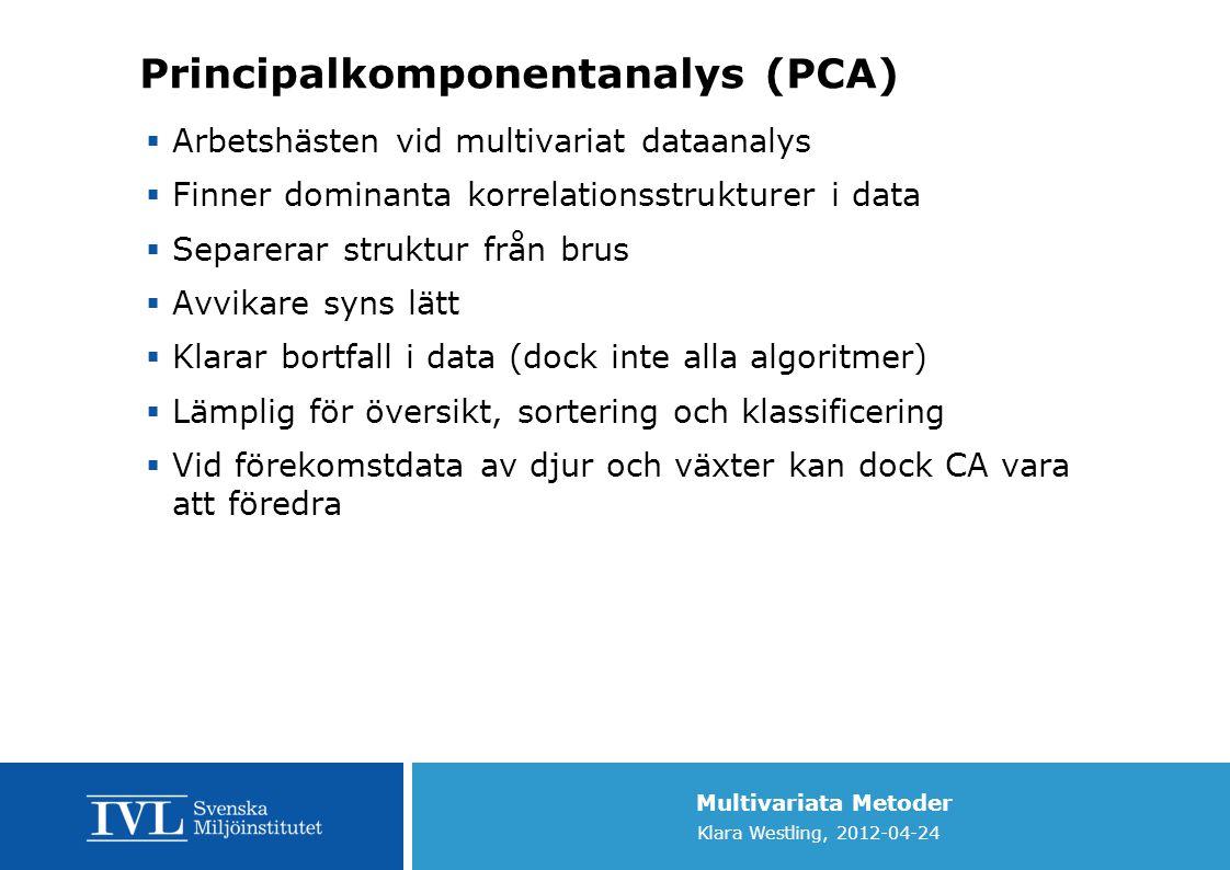 Principalkomponentanalys (PCA)