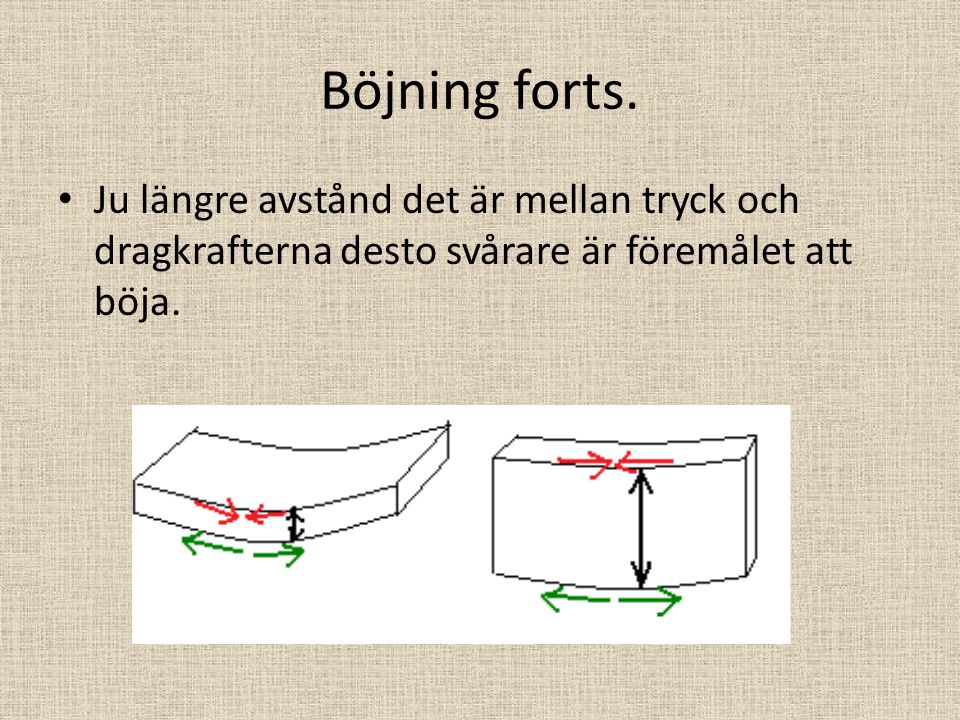 Böjning forts.