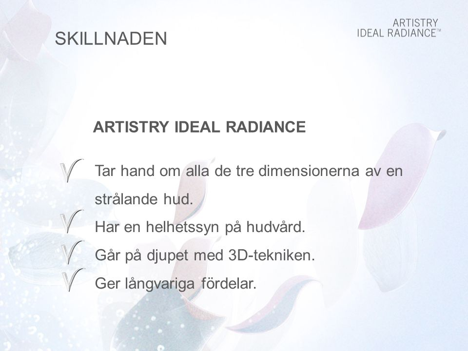 SKILLNADEN ARTISTRY IDEAL RADIANCE