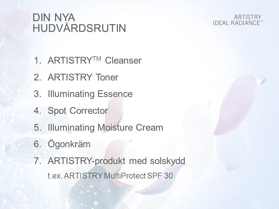 DIN NYA HUDVÅRDSRUTIN ARTISTRYTM Cleanser ARTISTRY Toner