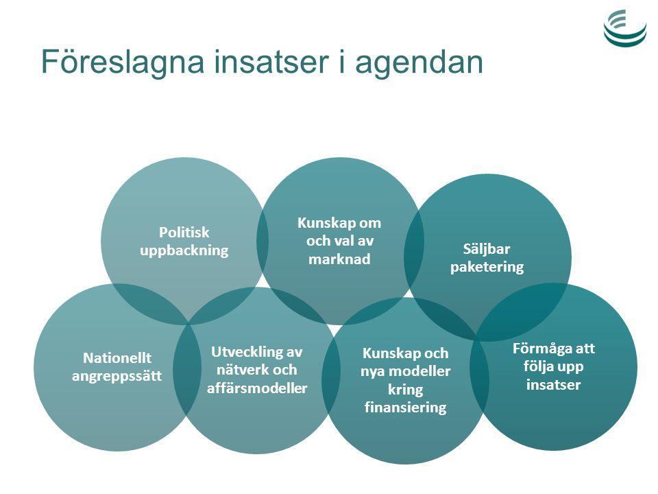 Föreslagna insatser i agendan