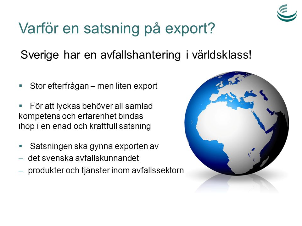 Varför en satsning på export