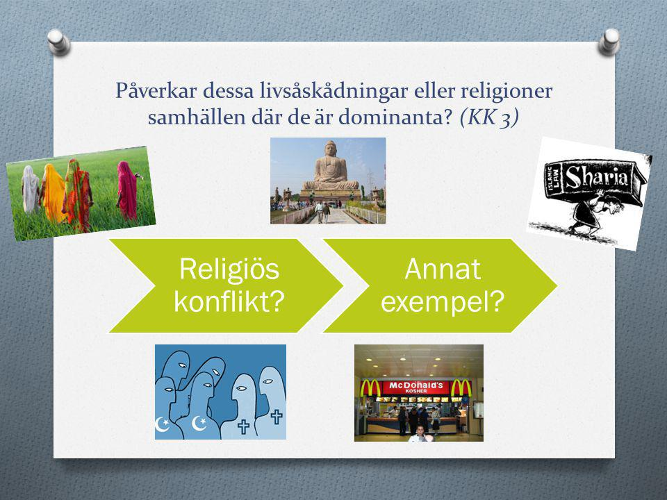 Religiös konflikt Annat exempel