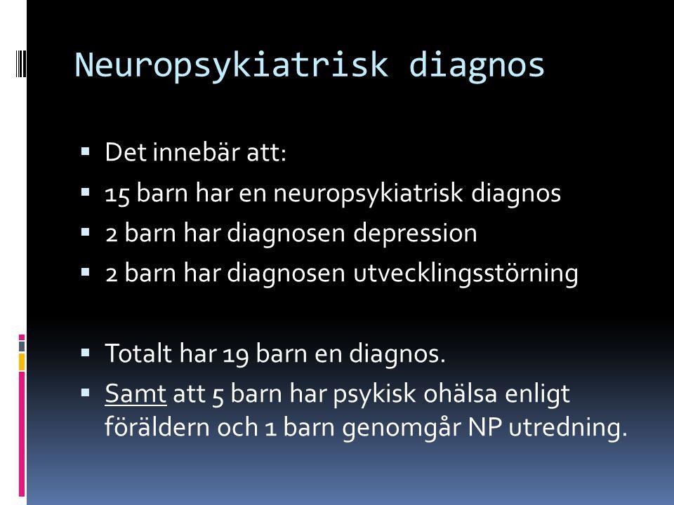 Neuropsykiatrisk diagnos