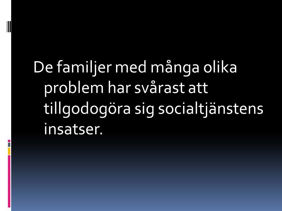 De familjer med många olika problem har svårast att tillgodogöra sig socialtjänstens insatser.