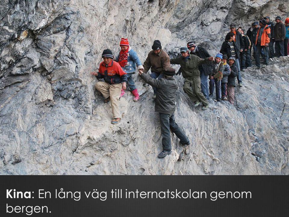 Kina: En lång väg till internatskolan genom bergen.