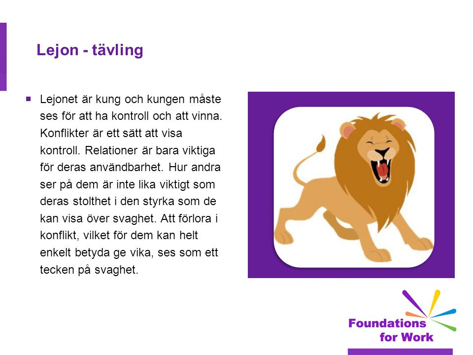Lejon - tävling