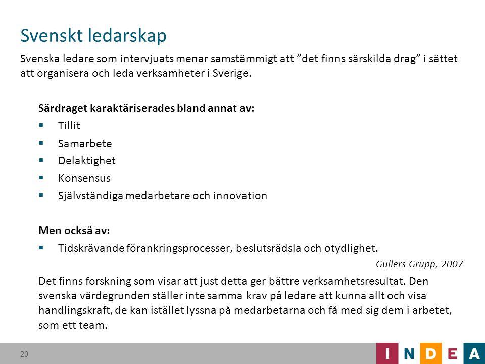 Svenskt ledarskap