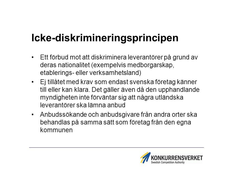 Icke-diskrimineringsprincipen