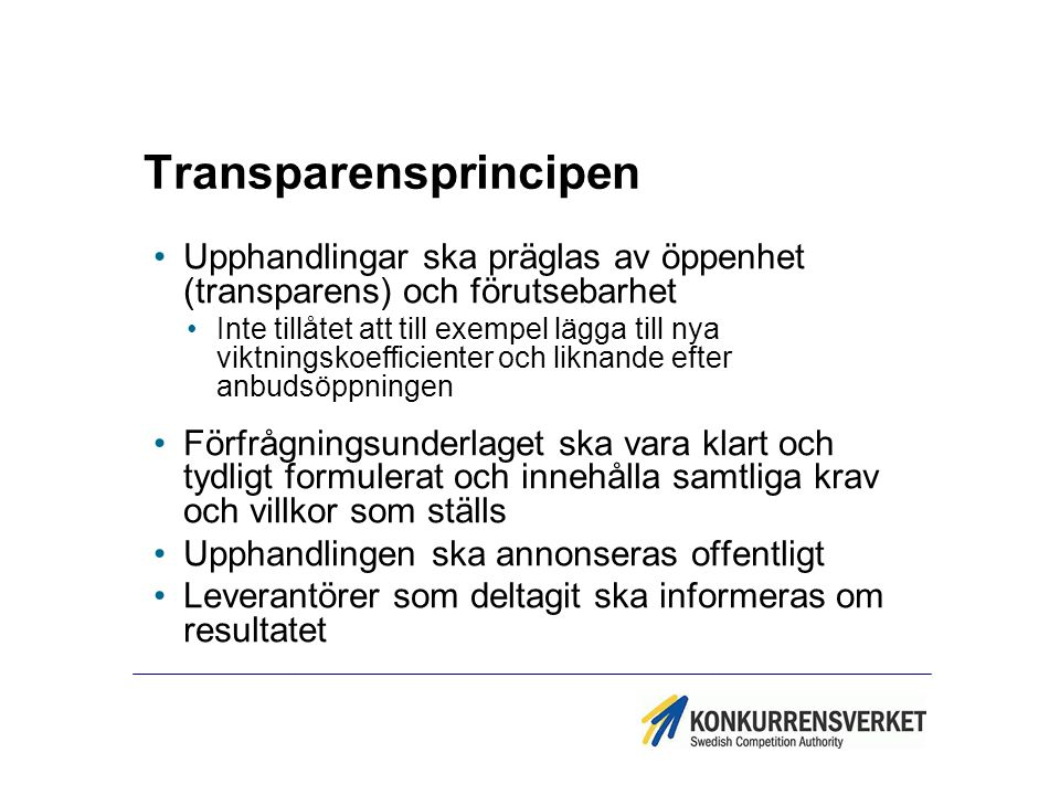 Transparensprincipen