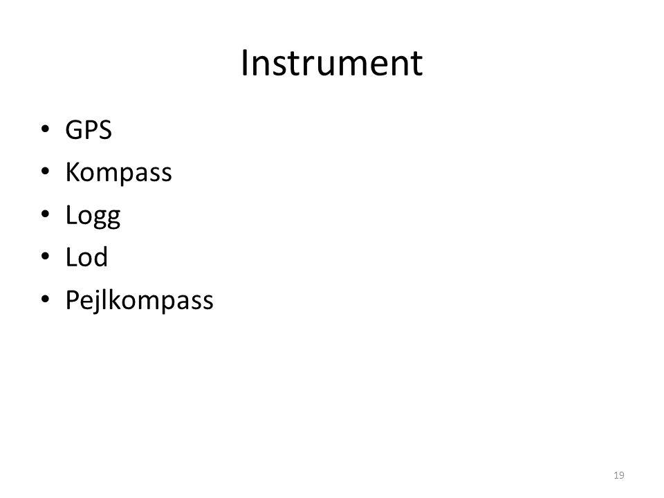 Instrument GPS Kompass Logg Lod Pejlkompass 8 meter