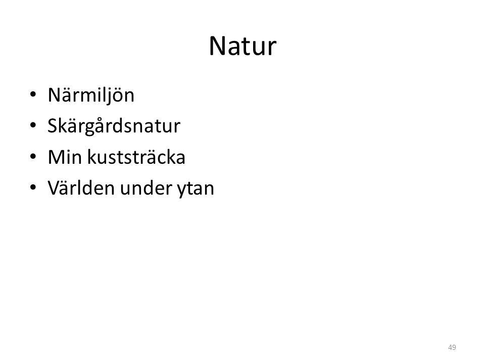 Natur Närmiljön Skärgårdsnatur Min kuststräcka Världen under ytan