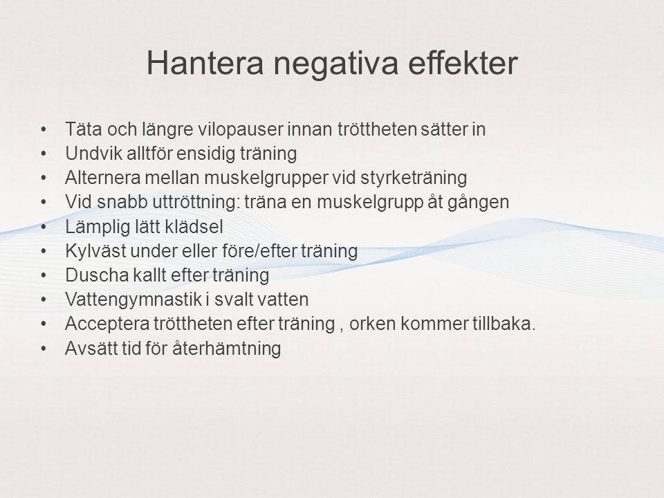 Hantera negativa effekter