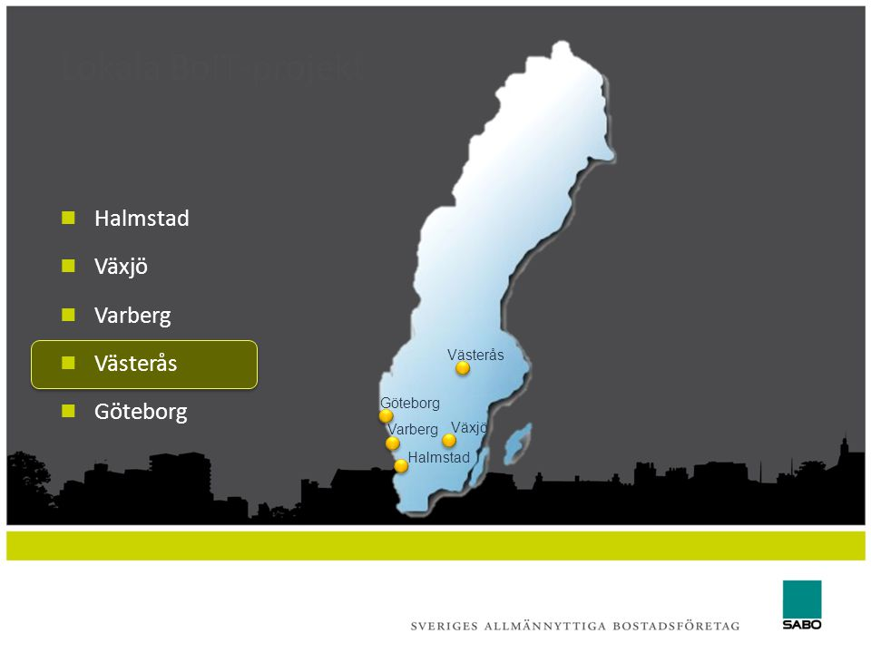 Lokala BoIT-projekt Halmstad Växjö Varberg Västerås Göteborg Västerås