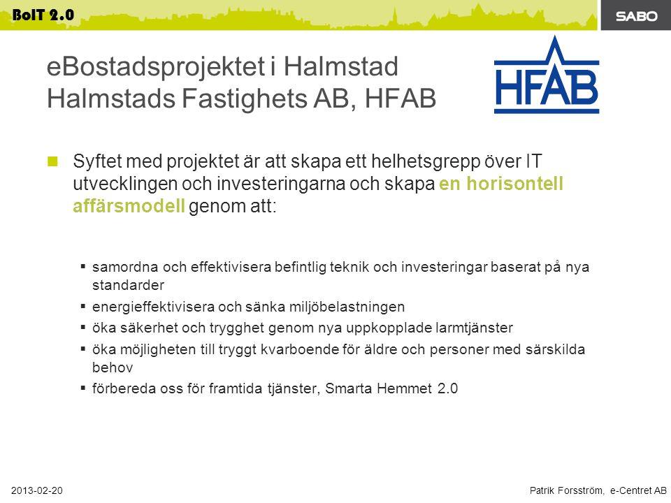 eBostadsprojektet i Halmstad Halmstads Fastighets AB, HFAB