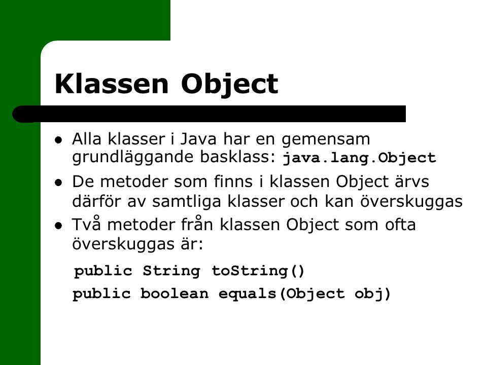 Klassen Object public String toString()