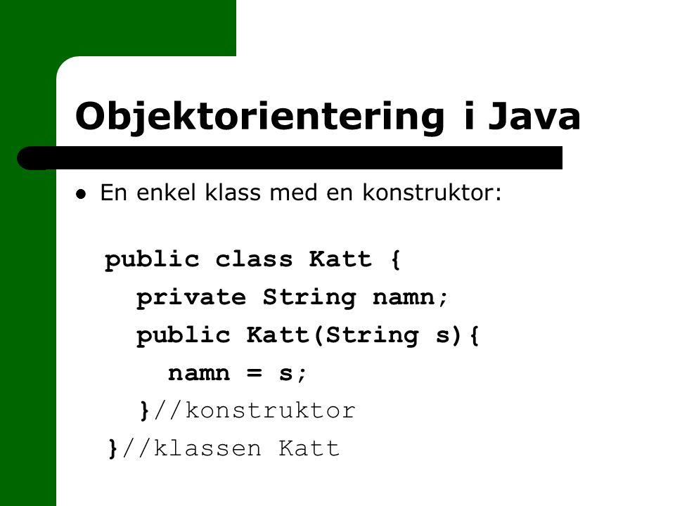 Objektorientering i Java