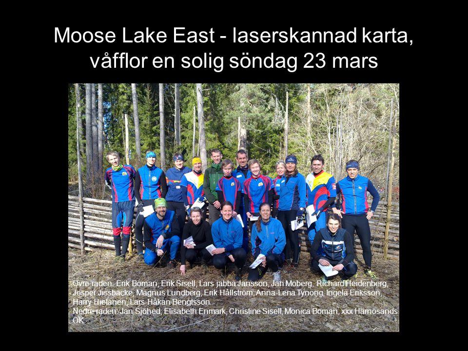 Moose Lake East - laserskannad karta, våfflor en solig söndag 23 mars