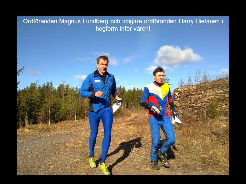 Ordföranden Magnus Lundberg och tidigare ordföranden Harry Hietanen i högform inför våren!