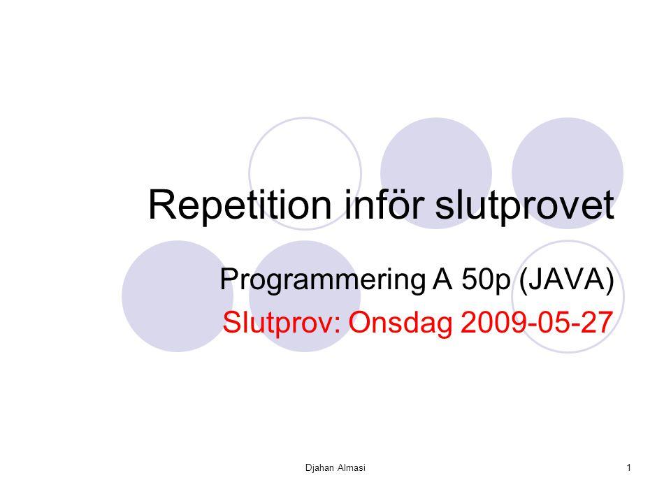 Repetition inför slutprovet
