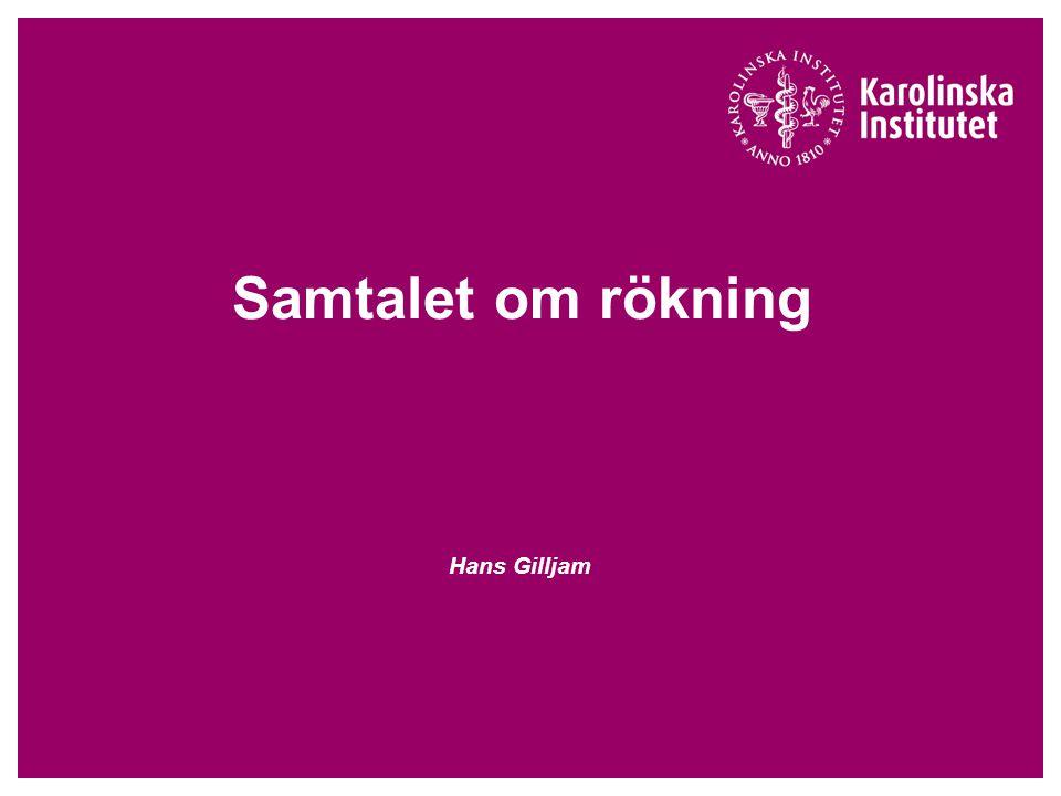 Samtalet om rökning Hans Gilljam