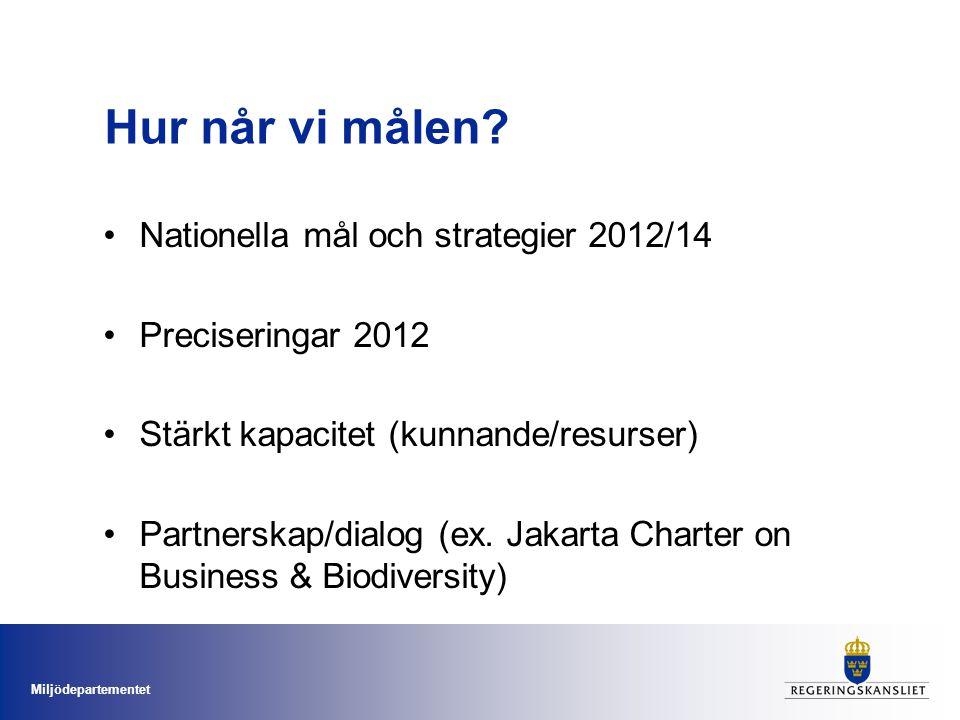 Hur når vi målen Nationella mål och strategier 2012/14