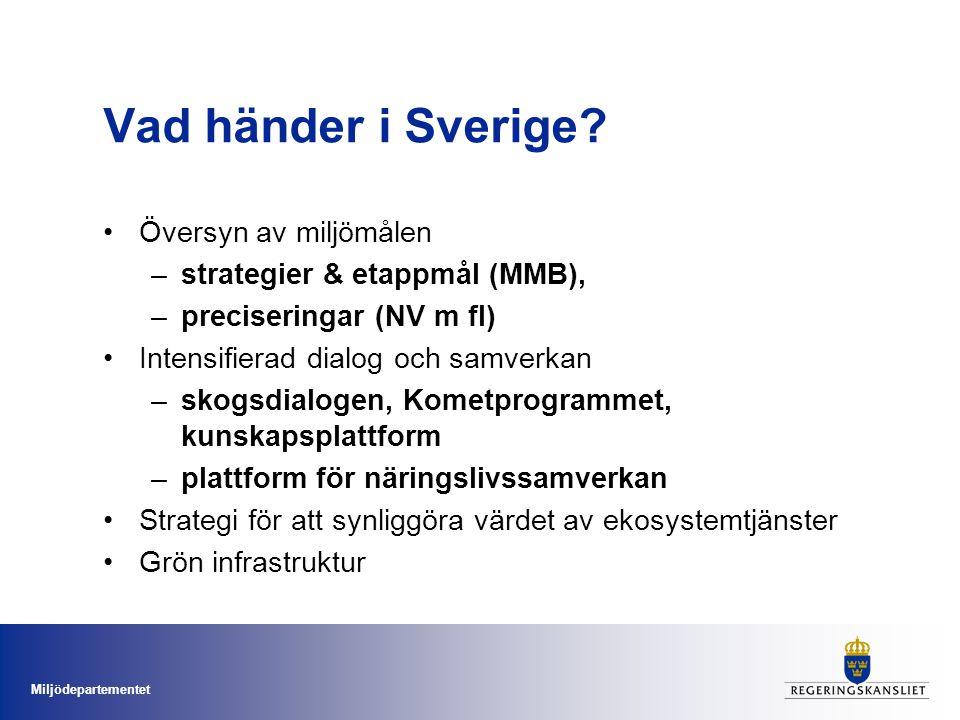Vad händer i Sverige Översyn av miljömålen