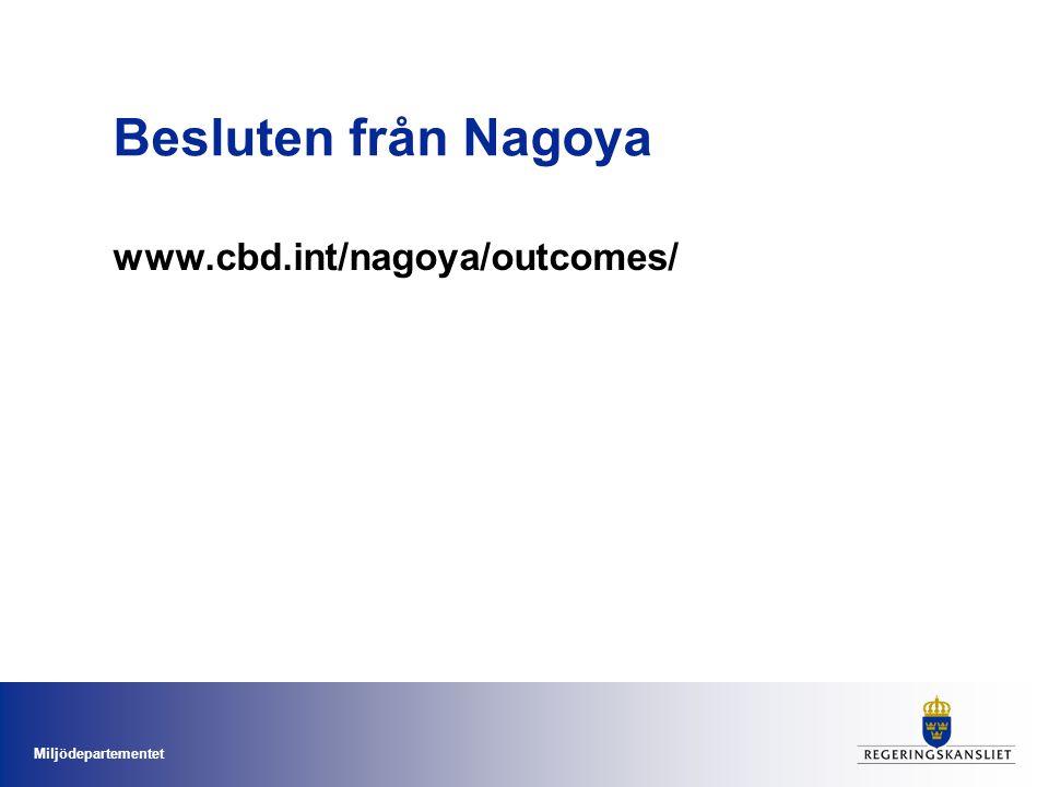 Besluten från Nagoya www.cbd.int/nagoya/outcomes/