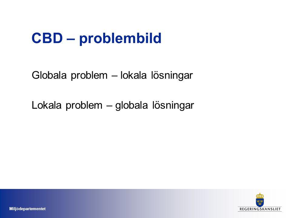 CBD – problembild Globala problem – lokala lösningar