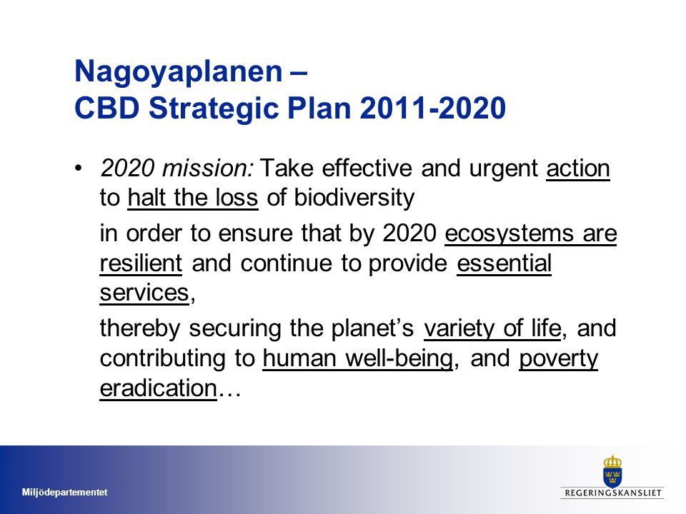 Nagoyaplanen – CBD Strategic Plan 2011-2020