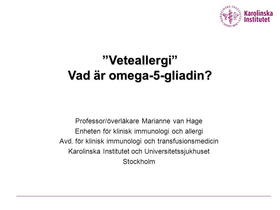 Veteallergi Vad är omega-5-gliadin