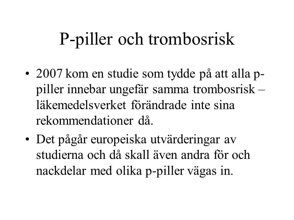 P-piller och trombosrisk