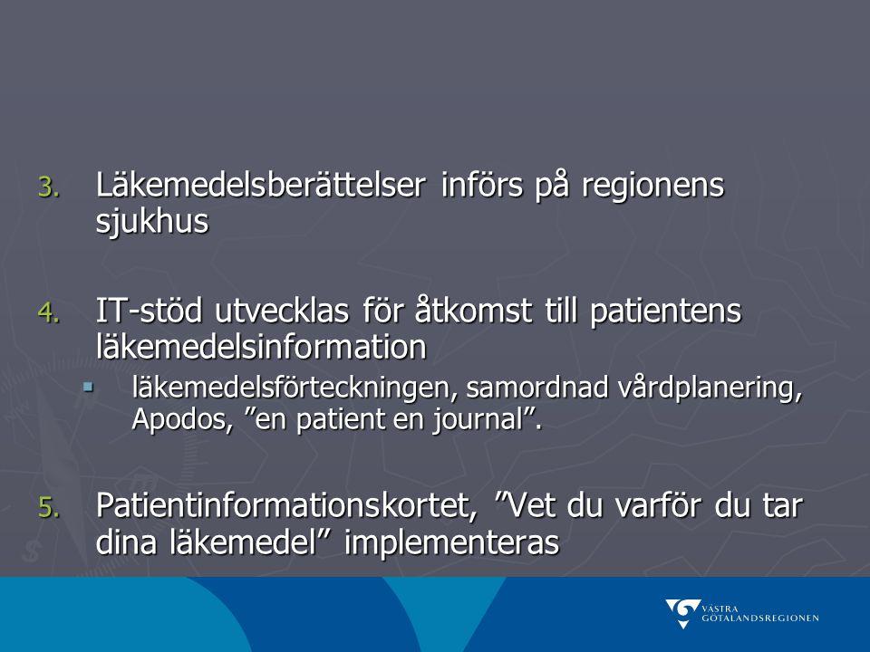Läkemedelsberättelser införs på regionens sjukhus