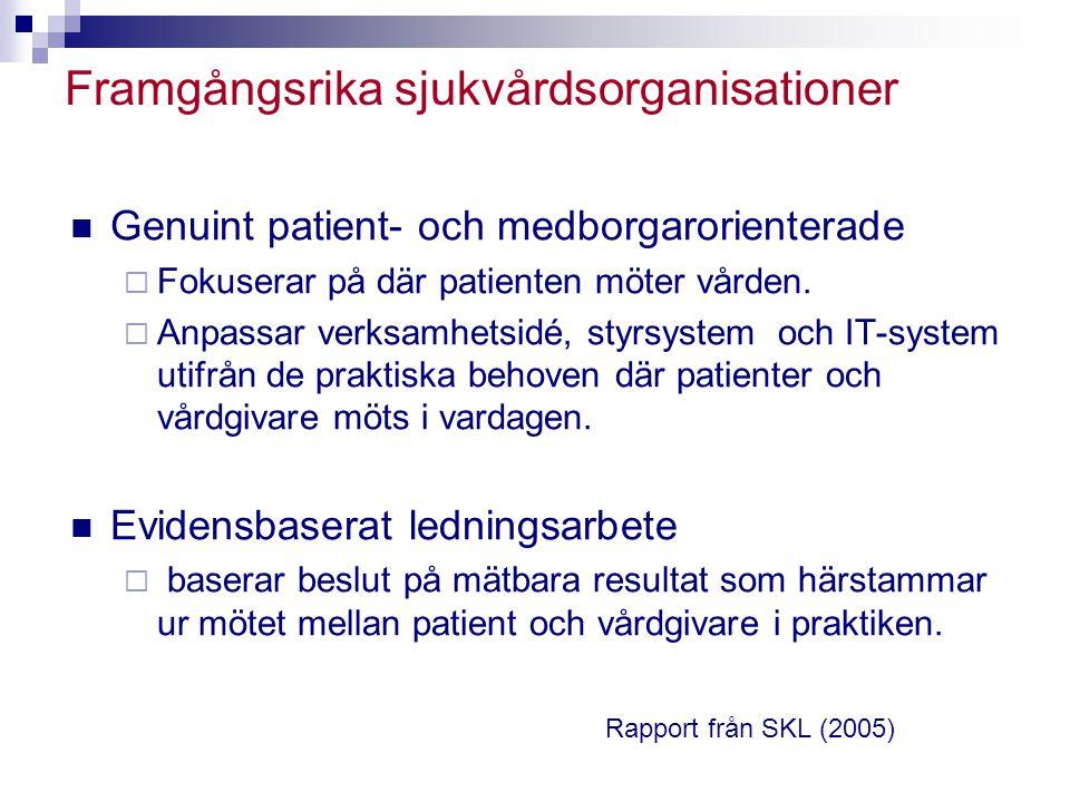 Framgångsrika sjukvårdsorganisationer