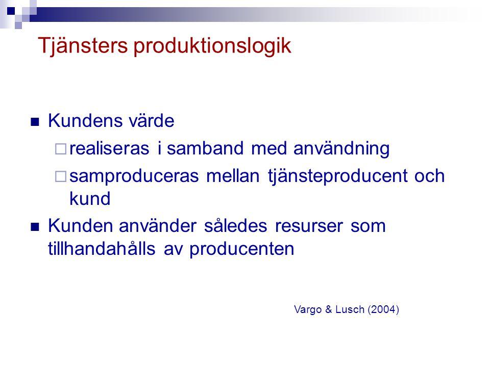 Tjänsters produktionslogik
