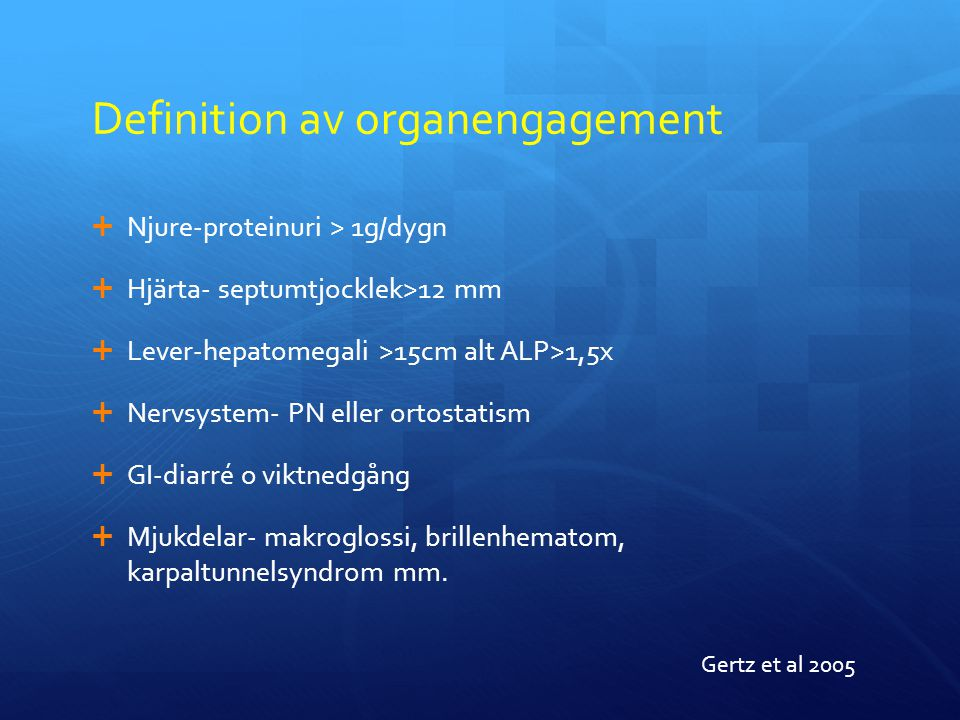 Definition av organengagement