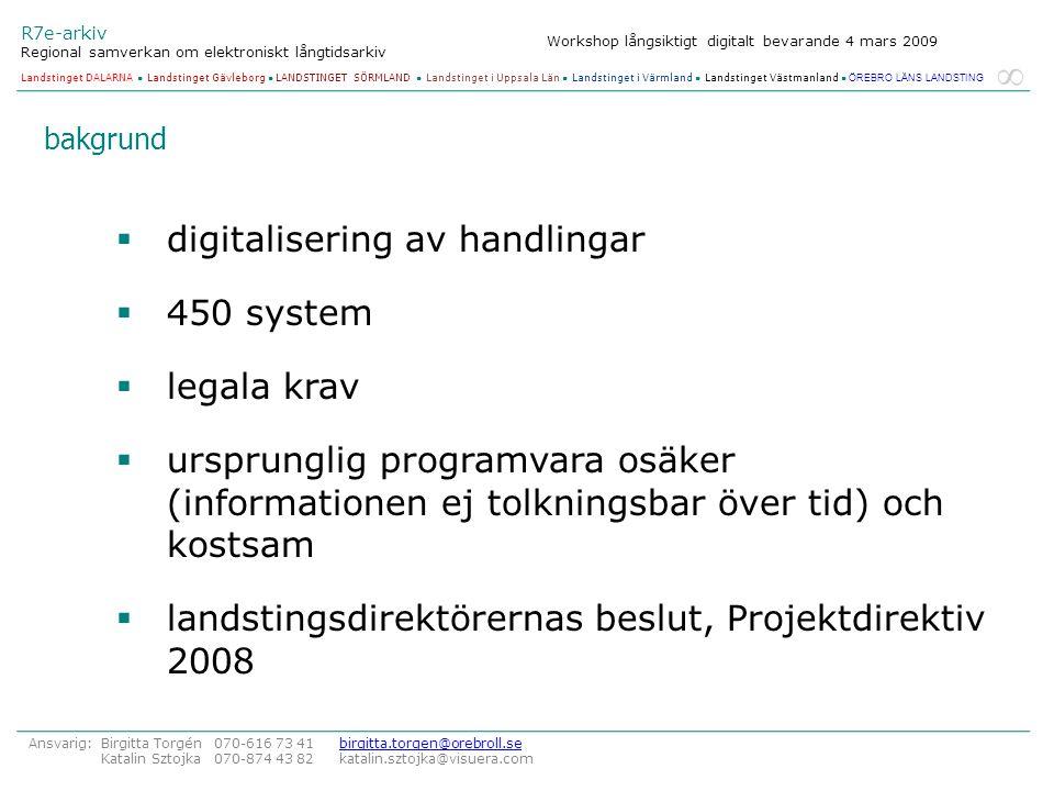 digitalisering av handlingar 450 system legala krav