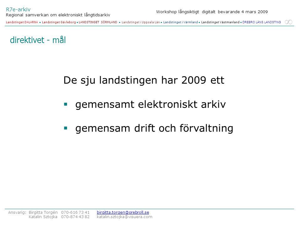 De sju landstingen har 2009 ett gemensamt elektroniskt arkiv