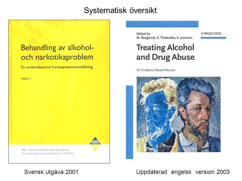 Systematisk översikt Svensk utgåva 2001 Uppdaterad engelsk version 2003.