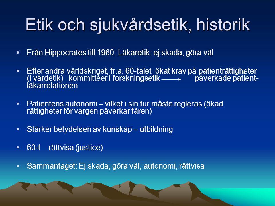 Etik och sjukvårdsetik, historik