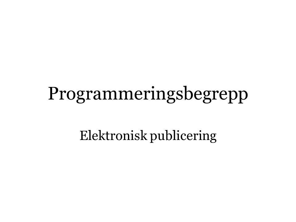 Programmeringsbegrepp
